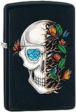 Zippo Lighter Skull and Butterflies - Black Matte