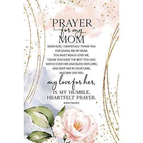 Prayer for My Mom Wood Plaque with Inspiring Quotes 6 inch x 9 inch - Elegant Vertical Frame Wall & Tabletop Decoration | Easel & Hanging Hook | Dear God, I Gratefully Thank You for Giving me My mom