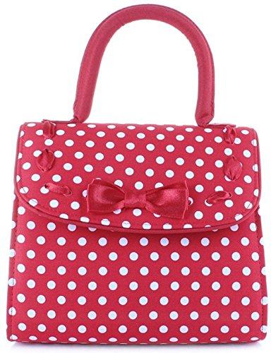 Ruby Shoo Santiago Red Spots Polka Dot Top Handle Shoulder Bag, One size