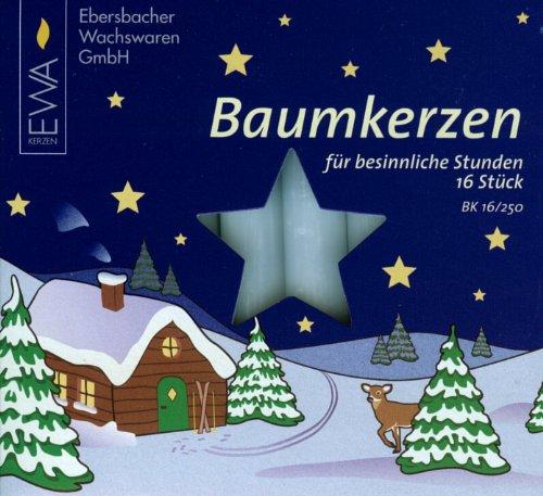 Pinnacle Peak Trading Company 16 White 14mm German Christmas Tree Candles