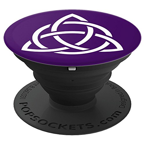 Purple Triquetra Trinity Symbol Celtic Knot Cheeky Witch PopSockets Grip and Stand for Phones and Tablets