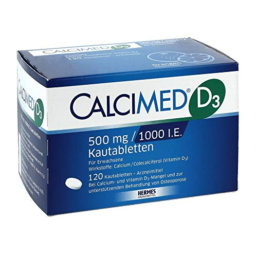 CALCIMED D3 500mg / 1000 I.E. Kautabletten, 120 St. Tabletten