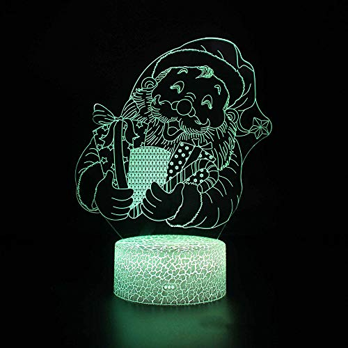 3D Night Light for Kids, Optical Illusion LED Night Lamp 16 Colour Changing Light with Remote Control for Living Bedroom, Christmas lights-06