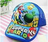 AJSJ 1Pcs Cartone Animato Super Mario Moda Sun Mario Casual Berretto da Baseball Cosplay Regali per Bambini Festa, B