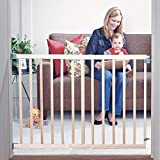 Toddleroo by North States 42' wide Stairway Swing Baby Gate: Ideal for standard stairways. Swing control hinge & one hand operation. Hardware Mount. Fits 28'- 42' wide (30' Tall, Sustainable Hardwood)