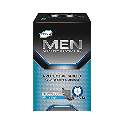 Tena for Men Protective Shield Extra Light 14 Pads x 6 Packs