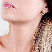 Dainty Gold Circle Earrings - Minimal Small Open Circle Stud Posts - Designer Handmade