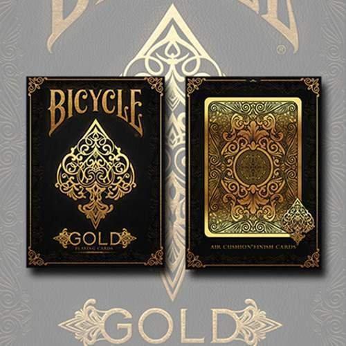 SOLOMAGIA Mazzo di Carte Bicycle Gold Deck by US Playing Cards - Mazzi Bicycle - Carte da Gioco - Giochi di Prestigio e Magia