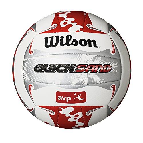 Wilson Beach Volleyball, Outdoor, Freizeitspieler, Offizielle Größe, AVP QUICKSAND ALOHA, Weiß/Grau/Rot, WTH489019XB