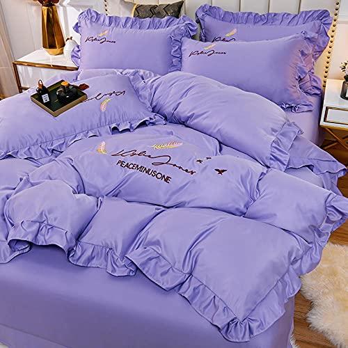 juego de funda de edredón 3d,Set de sábanas de sábanas Set 4 PCS 1 Duvet Funda 1 Hoja ajustada 2 Casas de almohadas, más adecuadas para la decoración del dormitorio, las habitaciones.-METRO_1,8 m de