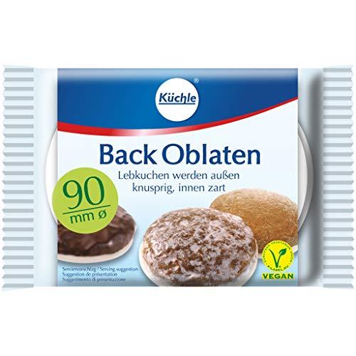 Backoblaten / Oblaten (90 mm / 20 Stück) VEGAN - MIT LEBKUCHEN REZEPT