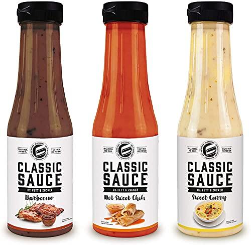 GOT7 CLASSIC SAUCE - Salsa para ensaladas, parrilla y condimentos sin calorías - Perfecta para perder peso - 3x 350 ml (5ª caja de mezcla)