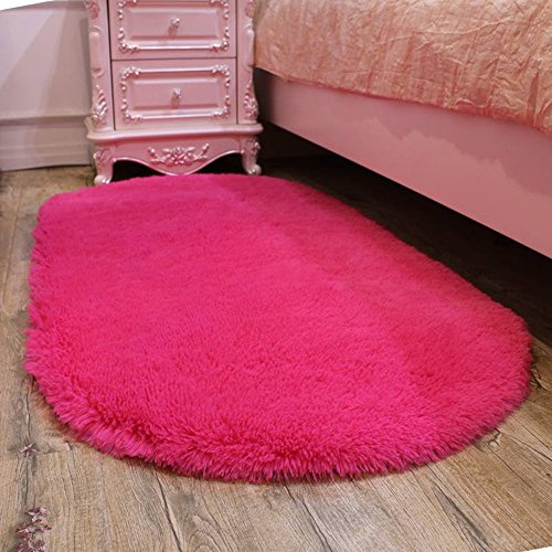 Global- Rose Rouge, Mode Belle Maison Tapis Salon Café Table Chambre Princesse Chambre Mat (Couleur : Ordinaire, taille : 100 * 160cm)