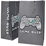 Gamer Party Favor Bags, Video Game Party Supplies (5 x 8.5 x 3 in, 36 Pack)