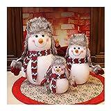 GAOYINMEI Escultura de escritorio Estatua Navidad muñeco de nieve Estatua Decoración Hecho a Mano Diseño Familia Muñeco de Nieve Escultura Nieve Casa Hotel Centro Comercial Artesanía Decoración