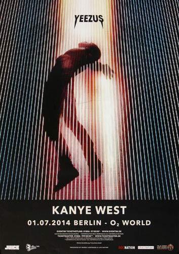 Kanye West - Yeezus (2014) - Konzertplakat, Konzertposter