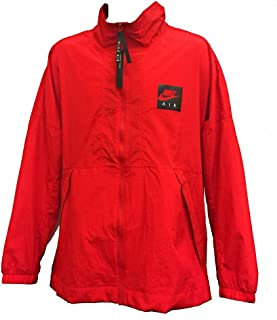 Men's Air Woven Track Jacket 886056-657 Full Zip Windbreaker Packable Oversize Spellout