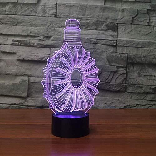 3D LED Whisky Flasche Tischlampe 7 Farben Ändern Schlaf Nachtlichter Neuheit Schlafzimmer Nacht Dekor Luminaria Leuchte Geschenke
