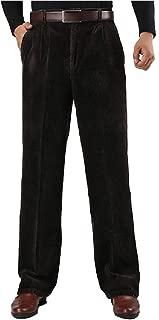 Mogogo Men's Winter Hi-Waist Plus Size Corduroy Leisure Work Pant