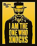 Pyramid International I Am the One Who Knocks Breaking Bad Mini pster de plstico/cristal, multicolor, 40 x 50 x 1,3 cm