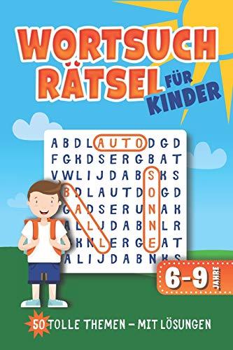 Wortsuchrätsel für Kinder: Wortgitter Rätselheft mit 50 Buchstabenrätsel l sehr leichte Rätsel l mit Lösungen l ca. Din A5