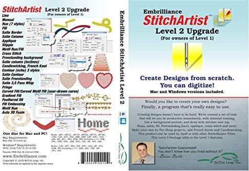 Embrilliance StitchArtist Upgrade Level 1 to Level 2 Digitizing Embroidery Software for Mac product image