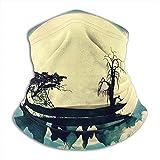 Linger In Cuello Bufanda Luna Paisaje de fantasía Anti1 Pasamontañas Máscara de esquí Más cálido Invierno Abrigo para la Cabeza