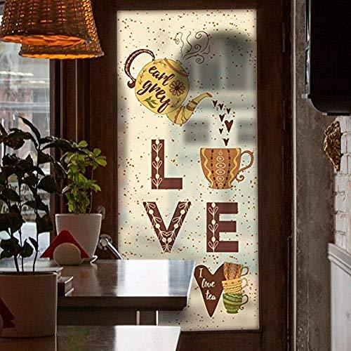 Muurstickers (doe-het-zelf) commerciële raamfolie mat ondoorzichtig privacy gekleurd glas Sticker Coffee Shop decoratie
