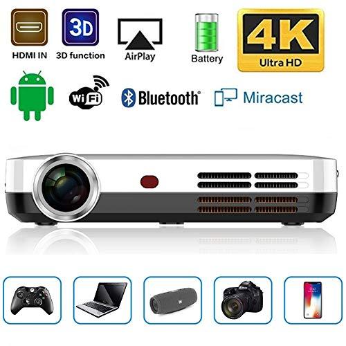 JLCN Mini proiettore Portatile DLP 3500 Lumen 3D 1280 * 800 Risoluzione Android Wi-Fi Bluetooth 600Ansi LED HDMI HD Video proiettore Beamer di Sostegno 1080P HD con Keystone