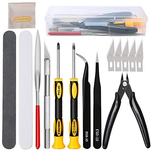 16pcs Kit de herramientas modelo Gundam de fabricación construcción de pasatiempos profesionales, juego de herramientas básicas de modelado, juego de manualidades paran modelos de Gundam, reparación