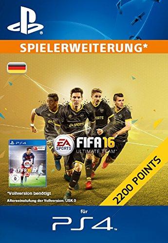 2200 FIFA 16 Ultimate Team Points [Zusatzinhalt][PS4 PSN Code - deutsches Konto]