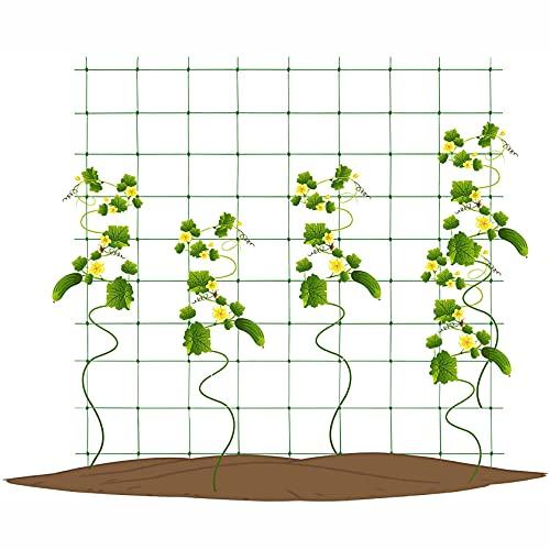 WANSE Rete per Piante Rete A Traliccio in Rete da Arrampicata in Verde Rete da Giardino Supporto per Piante Rete da Giardino per Viticci Piante Rampicanti Rampicanti