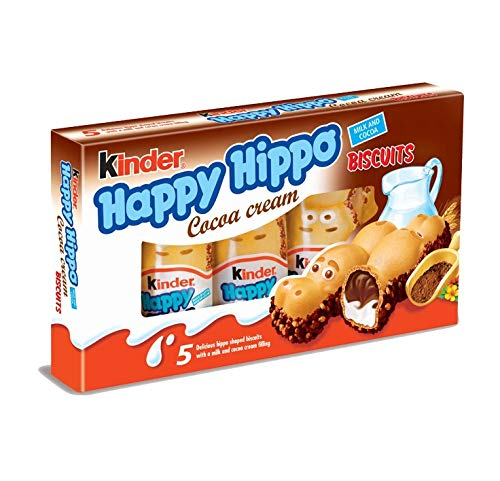 "Kinder ""Happy Hippo"" Cocoa Cream Biscuits : Pack of 5 Biscuits"