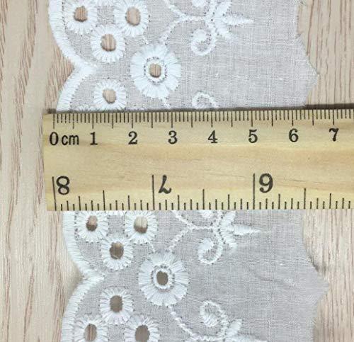 3 meter/stuk 6.5cm breedte van hoge kwaliteit off white katoen kant trim stof diy doek accessoires