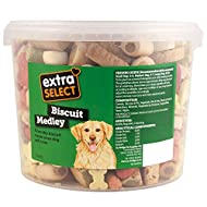 Extra Select Biscuit Medley Dog Treats Tub, 3 Litre