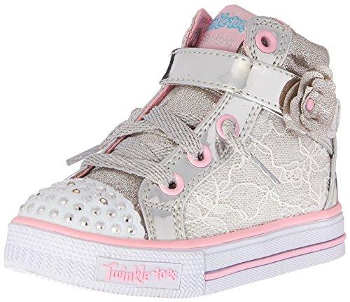 Zapatillas para mujer Shuffles-10705N, tapete plateado / rosa, 9 M para ni?os peque?os de los Estados Unidos