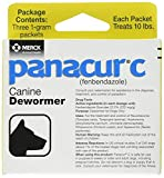 Panacur Canine Dewormer 1 Gram, 3 Pack, Yellow