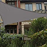 HAIKUS Toldo Vela Triangular 5x5x5 m, Vela de Sombra PES, Impermeable, Resistente y 95% Protección Rayos UV para Exterior, Jardín, Terrazas (Gris)