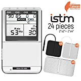 iSTIM EV-805 TENS EMS 4 Channel Rechargeable Combo Machine Unit - Muscle Stimulator + Back Pain Relief and Management-...