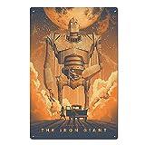 The Iron Giant Blechschilder Vintage Metall Poster Retro