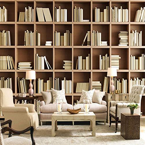Mrlwy Wallpaper Custom 3D Stereo Bookshelf Hintergrund Wandbild Moderne Einfache Bibliothek Wohnzimmer Schlafzimmer Innendekor Fresko-120X100CM