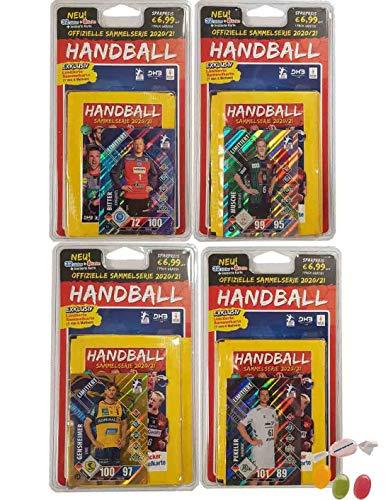 Blue Ocean Victus Handball Sticker 2020/2021 - alle 4 Verschiedene Blister je 8 Tüten Saison 20/21 zusätzlich 1 x Sticker-und-co Fruchtmix Bonbon
