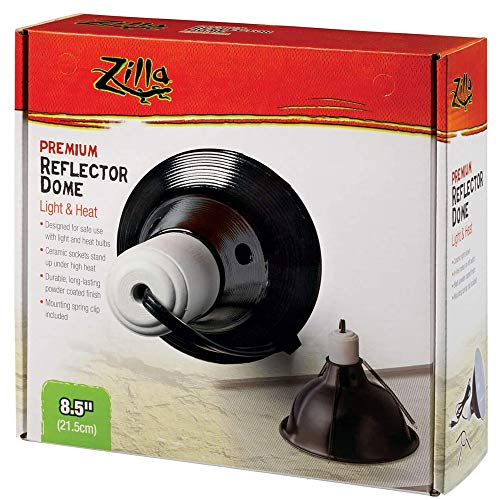 Price comparison product image Zilla Reptile Terrarium Heat Lamps and Habitat Lighting Dome,  Black 8.5 Inch