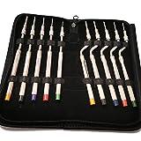YZILXY 10 Piezas De Punta Cóncava Codificada por Colores para Implantólogos Dentales, Extensión Ósea, Extrusora Ósea De Implante De Elevación De Seno