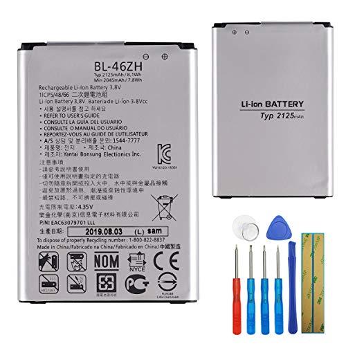 E-yiiviil Batería de repuesto BL-46ZH compatible con LG K7 X210 X210DS MS330 LS675 Tribute 5 K8 K350N con herramientas