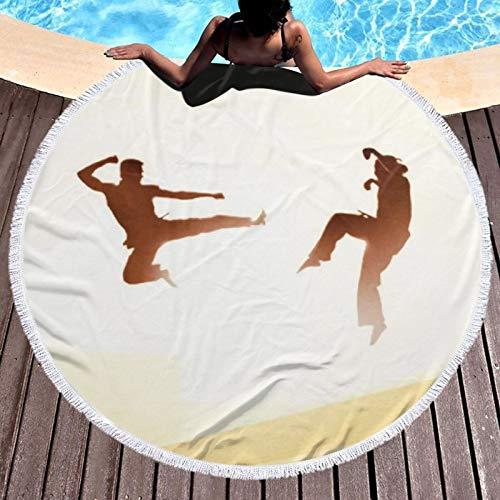 Toalla Ka-rate para niños, extra grande, de secado rápido, absorbente, ligera, compacta para deportes, gimnasio, natación, viajes, playa, camping, baño, yoga y pilates