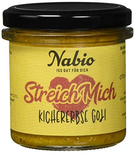 Nabio Brot-Aufstrich 6er Box SUPERFOODS Selection: Kichererbse Goji-Beere, Tomate Lupine, Spinat...