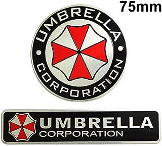 BENZEE 2pcs Set AM112 UMBRELLA CORPORATION Car Emblem Badge Sticker