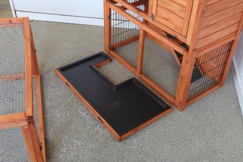 point-zoo Hasenstall Kaninchenstall Kleintierstall Stall + Freigehege - 8