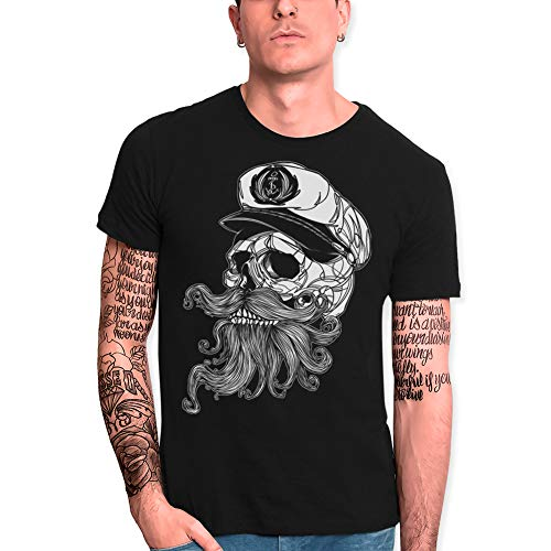 VIENTO Skull Mattketmo Camiseta para Hombre